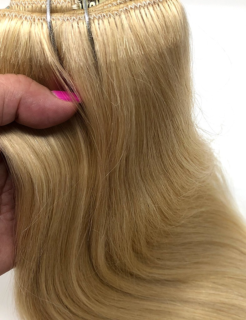 Clip In Hair Extensions Bleached Blonde 613 Clip In 120g Hair