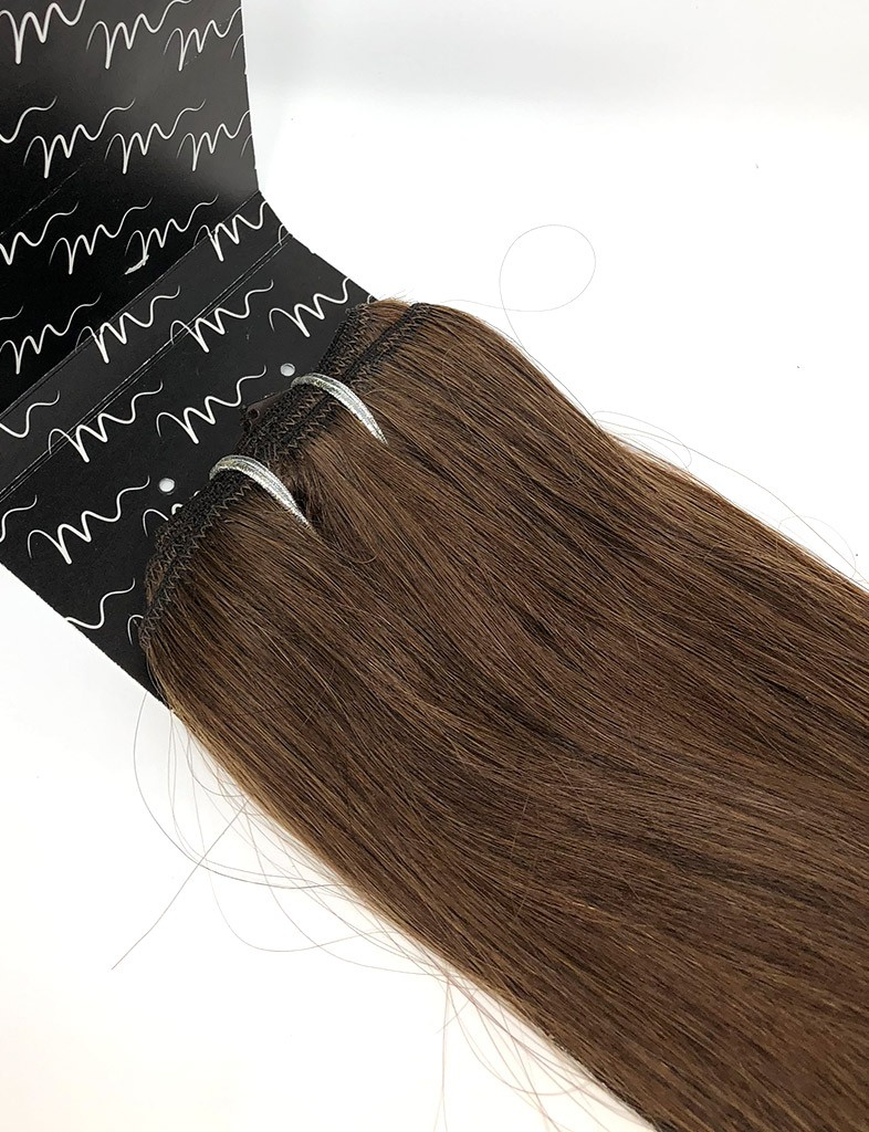 Clip In Hair Extensions Medium Brown 4 120g Hair Extensions By