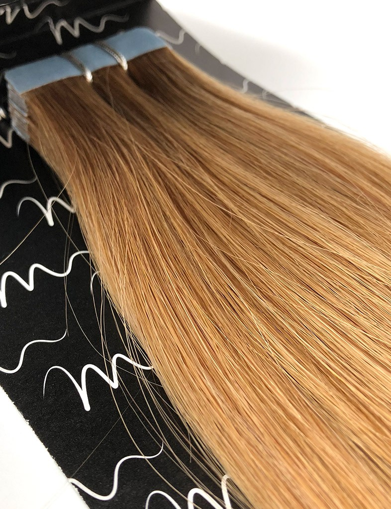Light Golden Brown 12 Tape In Hair Extensions Free Shipping