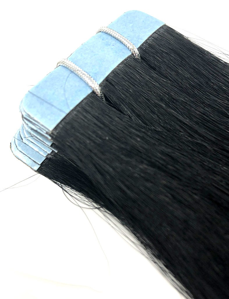 Jet Black 1 Tape In Hair Extensions Free Shipping Hair