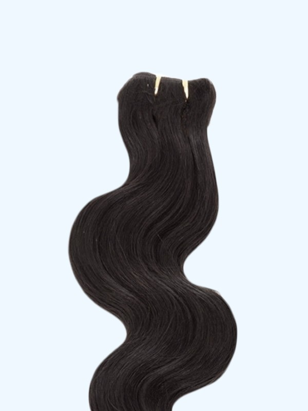 Indian Virgin Natural Black  Hair Wefts - Body Wave