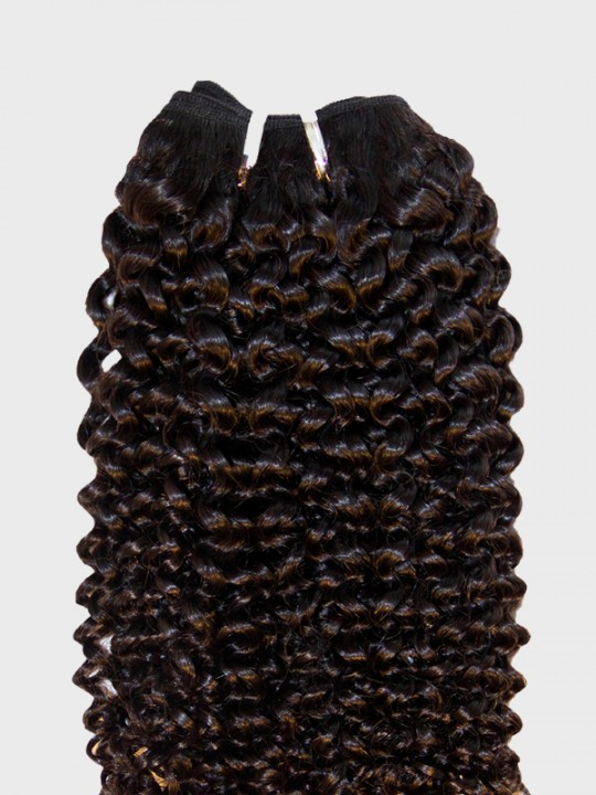 Brazilian Virgin Natural Black Hair Weft  Kinky Curly