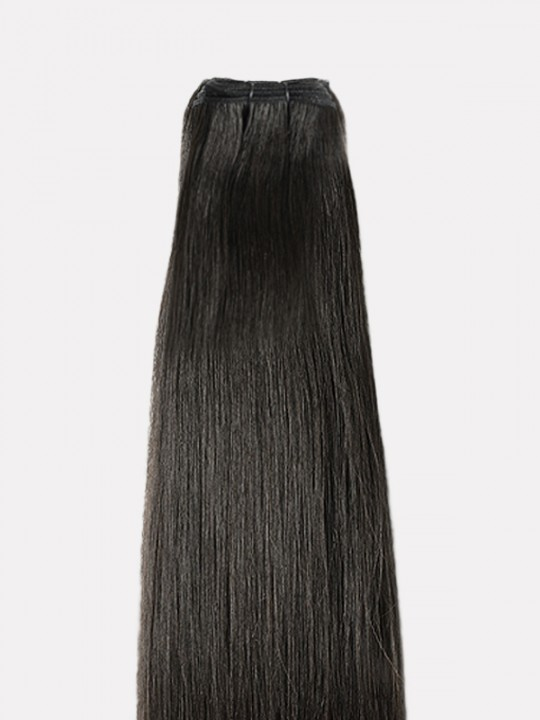 Brazilian Virgin Natural Black  Hair Weft Straight
