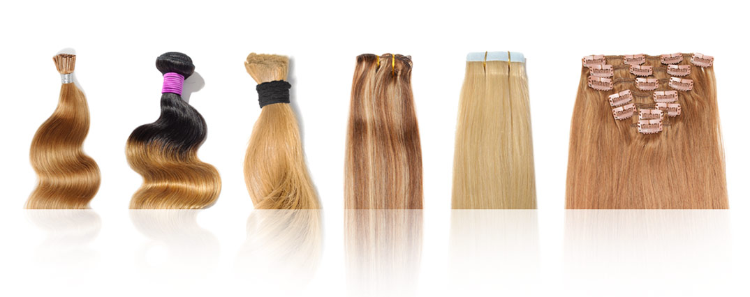 Private Label Tape in, Clip in, Wefts, Hair Extensions